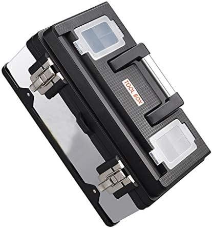 ツールオーガナイザー 17インチステンレスツールボックス多機能家庭用ポータブルハードウェア修理キット予備の物置とスチールロックストレージボックス ポータブルツールボックス (サイズ : 20 inches)