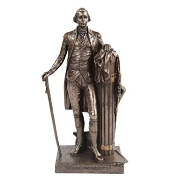 PTC 9.5 Inch George Washington Standing Figurine Statue with Walking Stick