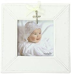 Mud Pie Baby Classic Keepsakes Cross Charm Photo Frame, White