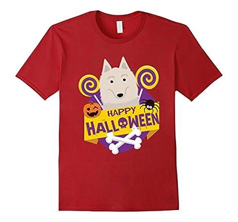 Mens Samoyed Lover T-shirt - Halloween Gift Medium Cranberry - Samoyed Jewelry
