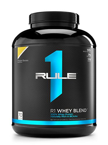 R1 Whey Blend, Rule 1 Proteins (Frozen Banana, 70 Servings)