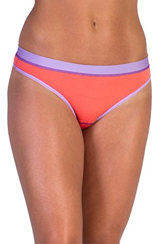 ExOfficio Women's Give-N-Go Sport Mesh Thong, Hot Coral, Large