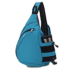 YUOTO Sling Backpack One Strap Crossbody Rope Sling Shoulder Bag Women Men sky blue