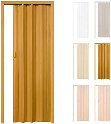 TecTake Puerta plegable de plástico PVC Puertas plegables Puerta corredera 83,5 x 203 cm con cierre magnético - disponible en diferentes colores - (Arce | No. 401507): Amazon.es: Hogar