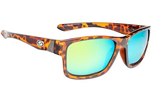 (Strike King Lures, Jordan Lee Pro Series Sunglasses, Shinny Tortoiseshell Frame, Amber)