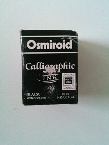 Osmiroid 19671 Calligraphy Ink Black Water Soluble 28 ml 0.95 fl. oz (Vintage Product) by Osmiroid (Image #1)