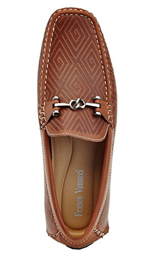 Loafers Karl Shoes Men's Tan Driving Textured Vanucci 534 Driving On Cut Low Slip Franco Adolfo Hwt7qxZq