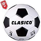 CLASICO Training & Recreation Soccer Ball Tradition Balls Free Carrying Net Bag &Needle Official Size 3 for Ages 8 and Under