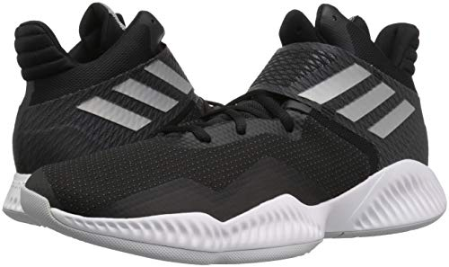 Image of the adidas Men's Explosive Bounce 2018 Basketball Shoe, Black/Silver Metallic/Light Solid Grey, 12 M US