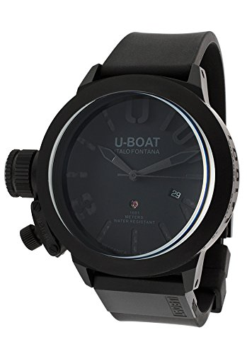 U-Boat Classico Automatic Black Dial Black Ion-plated Stainless Steel Mens Watch 6949