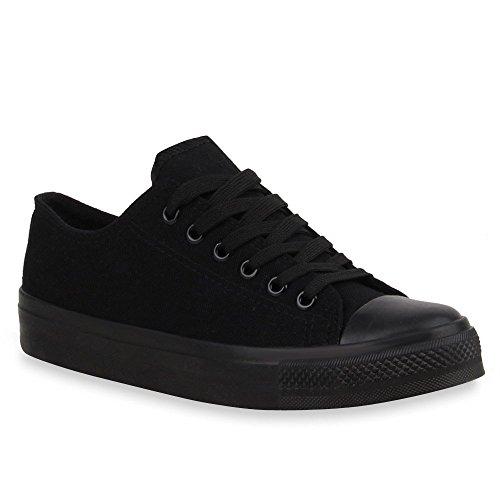 Stiefelparadies - Pantofole Donna, nero (Nero), 36 EU