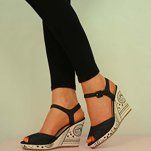 Cucu Fashion - Zapatos de tacón  mujer Negro - negro