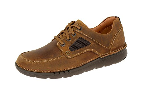 Clarks Mens Unnature Time Derbys Brown (dark Tan Lea)