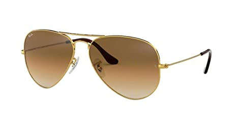 Amazon.com  Ray-Ban Aviator Metal Sunglasses RB3025 001 51 - Arista Gold  Crystal Brown Gradient - Medium Size 58mm Description change to Ray-Ban  Aviator ... 3c64c52282a3