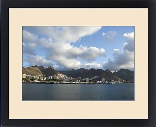 Framed Print of Spain, Canary Islands, Tenerife. Early morning port view of Muelle Sur area by Fine Art Storehouse