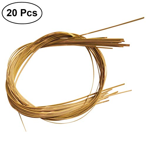 - Healifty Basket Flat Oval Reed Bamboo Strips for Weaving Chair 2M 20Pcs