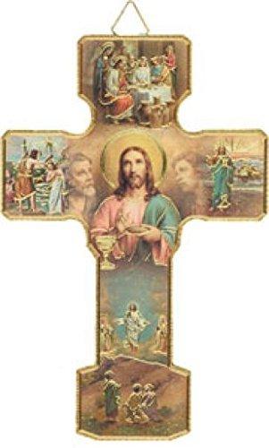 "rosarybeads4u 5"" Wood MYSTERIES OF THE LIGHT Crucifix Cross Wall Hanging"