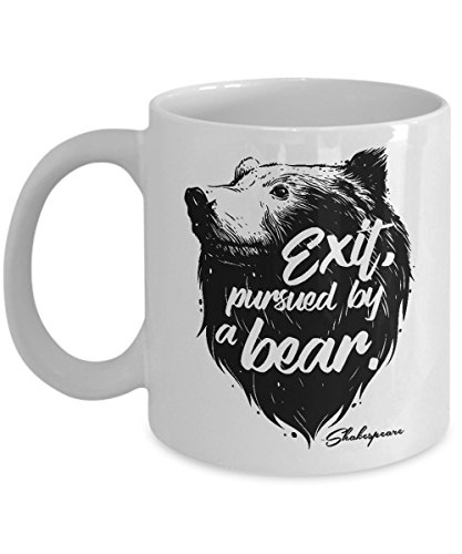 Side Show Broadway Costumes (Exit Pursued By Bear Funny Shakespeare Script Quote Theater Gift Mug)