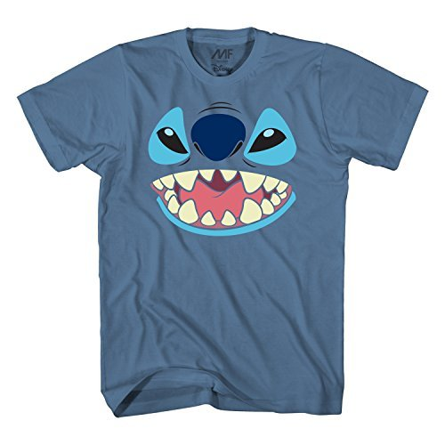 Disney Lilo and Stitch Big Face Costume T-Shirt (Medium, Blue)]()