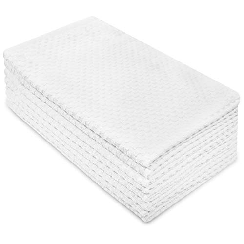 Cotton Craft - 8 Pack - Euro Cafe Waffle Weave Terry for sale  Delivered anywhere in USA