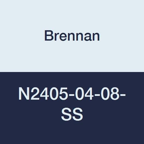 Brennan Industries N2405-04-08-SS Stainless Steel Straight Double-Ferrule Tube Fitting, 1/2