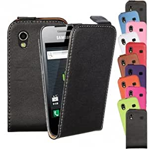 Vertical Leather Flip Magnetic Case For Samsung Galaxy Ace S5830 --- Color:Pink-red