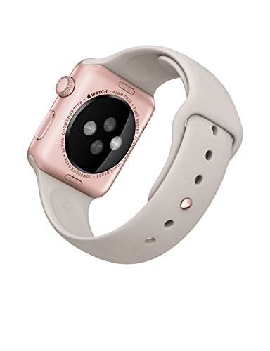 Apple 42mm Smart Watch - Rose Gold Aluminum Case with Stone Sport Band