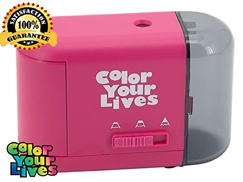 Pencil Sharpener Electric and Battery Operated-Best Quiet Portable Personal Electronic Sharpener for Pencils-3...