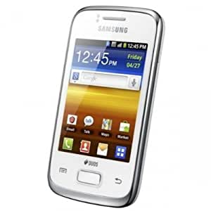 Samsung GT-S6102 Galaxy Y Duos Dual SIM Smartphone with Bluetooth, Wi-Fi, Android OS, HSDPA 850 / 2100 - Unlocked Phone - No Warranty - White