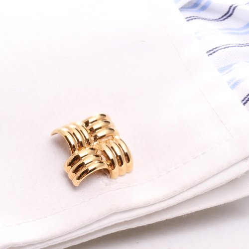Digabi Jewelry Mens Jewelry Cufflinks High Quality Square Rose Gold Plated with Advanced Gift Box