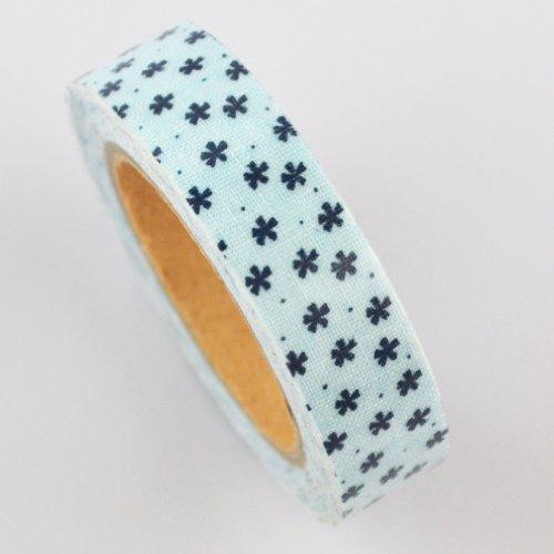 Lychee Craft Black Floral Fabric Washi Tape Decorative DIY Tape