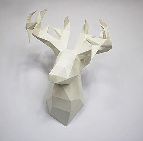 Amazon Com Deer Paper Craft Hunting Trophy S