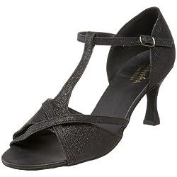 Sansha Women's Tina Ballroom Shoe,Black,10 M US Women's