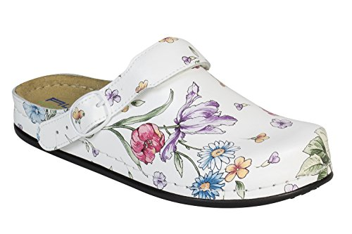 AWC Deco Decor Flower White Work UK Green Shoes rgrw4P
