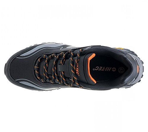 Hi-Tec Men's Kangri-Black-Grey-Orange Leisure Schwarz (Schwarz-Grau) BBgniUUdrN