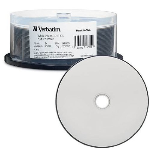 VERBATIM 97334 (005) VERBATIM DVD 50gb Blu-Ray RW Wh.Ikjt 25 97334 :: Total Media Inc. 1