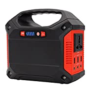 Portable Solar Generator Power Inverter,150Wh 40800mAh Power Station CPAP Battery Pack Outdoor Camping Home Emergency Power Supply Power Source,Charged by Solar Panel Wall Outlet Car