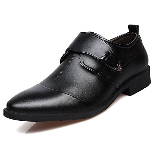 Seakee Men's Formal Business Oxford Velcro-straps Dress Shoes