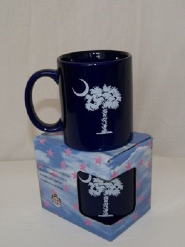 (ALBATROS 12oz Blue South Carolina State Palmetto Crescent Coffee Ceramic Mug for Home and Parades, Official Party, All Weather Indoors Outdoors)