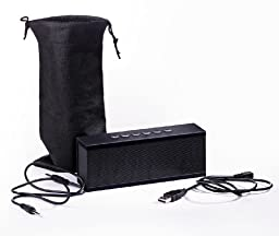 Audio-Technica ATH-M50x Studio Monitor Headphones and Photive Cyren Portable Wireless Bluetooth Speaker with Built in Speakerphone, Black