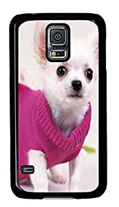 fancy Samsung S5 cover Gorgeous Chihuahua PC Black Custom Samsung Galaxy S5 Case Cover