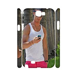 3D Ronaldo Glasses Samsung Galaxy Note 2 Cases, Fashion Samsung Galaxy Note2 Case for Women Tyquin {White}