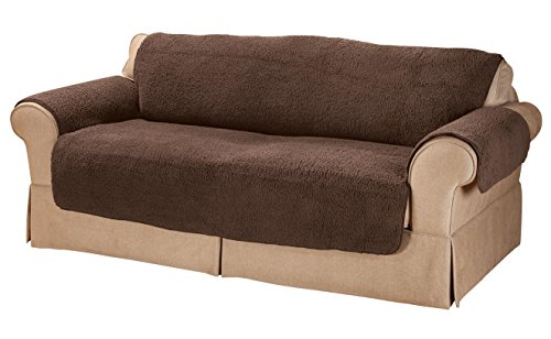 Sherpa Loveseat Protector by - Oak Fabric Loveseat