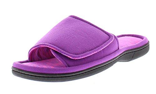 Astra House Slippers for Women,Memory Foam Bedroom Flip Flop Slipper Open Toe Purple M 8 US