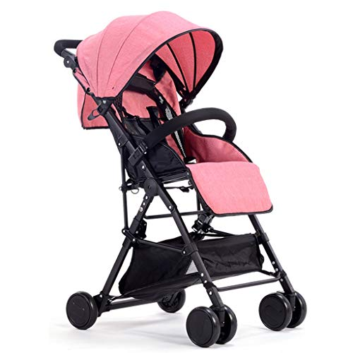 XYSQ Baby Carriage, Foldable Stroller Pushchair,Convenient Shockproof Single Stroller Lightweight, Suitable for Children…