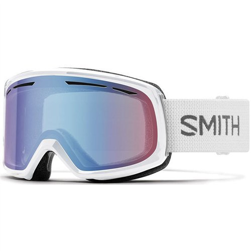 Smith Optics Womens Drift Snow Goggles White Frame/Blue Sensor Mirror (Ski Drift)