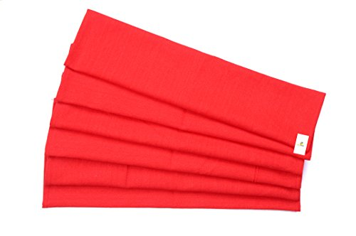 HomeStrap Red Dinner/ Table Napkins - Size 16