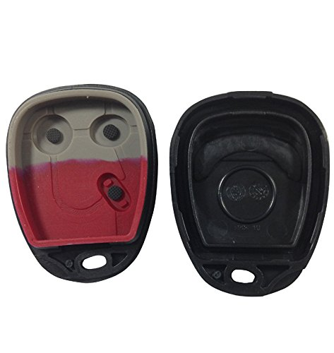Keyless Remote Fob Key Shell Case Replacement For 03 04 05 06 2003-2006 GMC Chevrolet Cadillac SSR Escalade Sierra Yukon Tahoe Avalanche Silverado 3 Buttons No chips