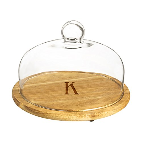 glass and wood cheese dome - 3