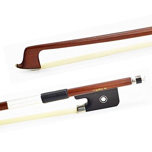 Gorgeous Bow (VingoBow 4/4 Size Brazilwood VIOLA BOW! High Density Ebony Frog, Gorgeous String Instrument Parts, Art No.310M)